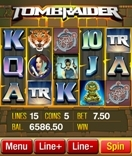 Microgaming based casino's offer the popular Tomb Raider Slot on their mobile network