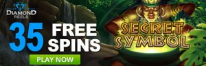 Secret Symbol Free Spins At Diamond Reels Casino