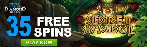 Secret Symbol Free Spins At Diamond Reels Casino