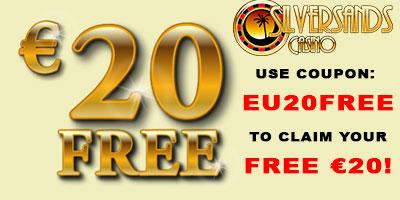 Silversands - 20 No Deposit Bonus